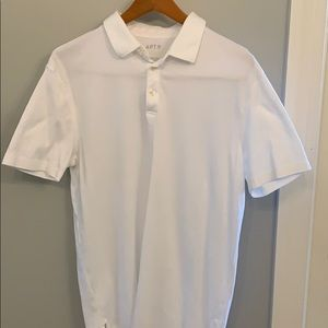 MENS white polo.